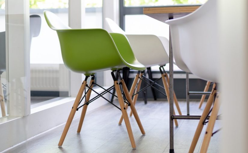 green chair - ecofriendly office
